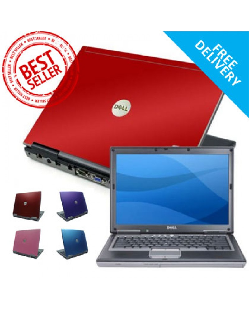 Coloured HP, Dell, Lenovo, Toshiba Laptop, refurbished, red