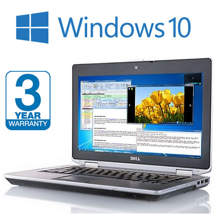 Dell Latitude E6430 3 Year Warranty, with Windows 10,  8GB Memory, 240GB SSD, i5 Laptop