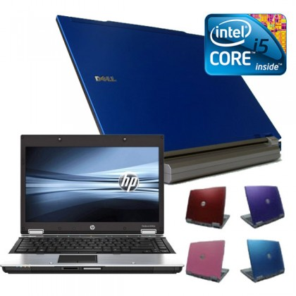 Coloured Dell Latitude E6410 i5 4gb, 160GB Widescreen Laptop, Red, Pink, Purple or Blue