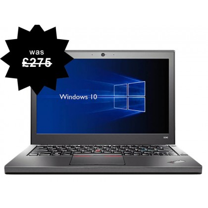 Lenovo Thinkpad X240 Laptop i5 2.60GHz 4th Gen 4GB RAM Warranty Windows 10