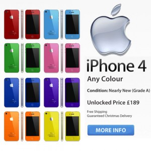 Refurbished iPhone 4 16GB - ANY COLOUR (As New)